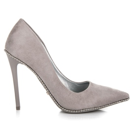 Seastar grå Moderigtigt Grey High Heels
