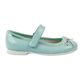 American Club grøn Ballerinas sko med en amerikansk bue