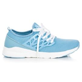 Ax Boxing blå Slip-on klud sko