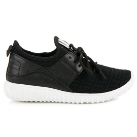 Sort slip-in sneakers