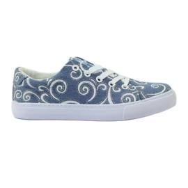 American Club Denim sneakers med amerikansk brokade blå