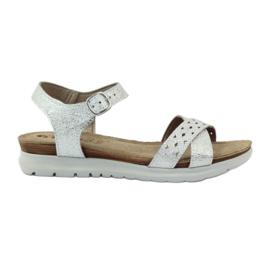 Sandaler indlæg Inblu 038 sølv grå