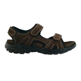 American Club Amerikanske læder mænds sandaler brun