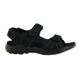 American Club sort Amerikanske læder mænds sandaler