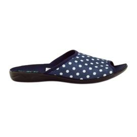Adanex blå bomuldstryk tøfler