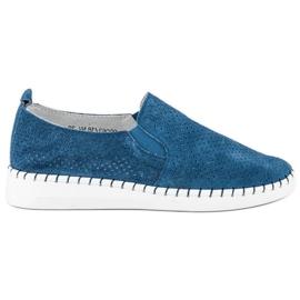 Filippo Openwork Slip-on sko blå