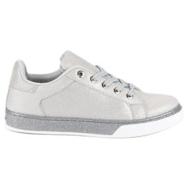 Sølvbundne sneakers grå