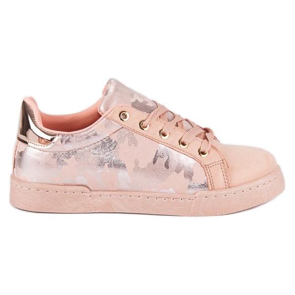 Lyserøde sneakers til binding pink