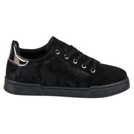 Sorte sneakers til binding