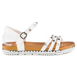 Anesia Paris hvid Rock Flat Sandals