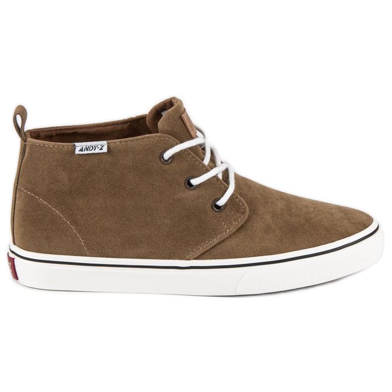 Andy Z Suede sneakers over ankelen brun