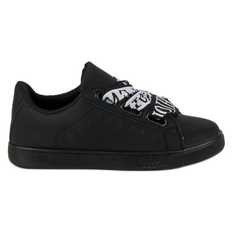 Black Fashion sneakers sort