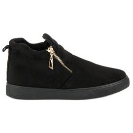 Suede Slip-on Sneakers sort