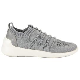 Kylie Textile Slip-on Sport Sko grå