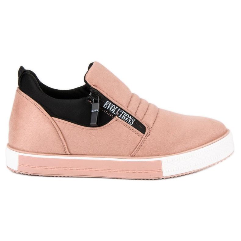Lyserøde sneakers med lynlås pink