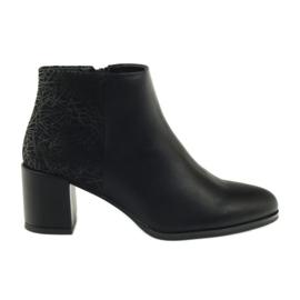 Sort høje hæle sko Sergio Leone 542