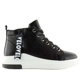 Ankelhøje sneakers sort A29 Black