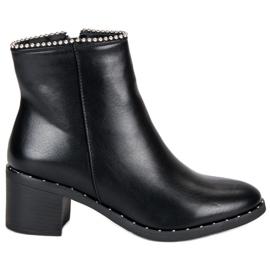 Seastar Elegant Black Ankel Støvler sort