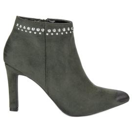 Suede Støvler På VINCEZA grøn