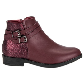 Anesia Paris rød Low Boots Kvinder