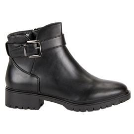 Vices Støvler lavt med spænde sort