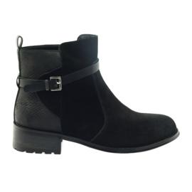 American Club Amerikanske støvler vinter støvler suede læder sort