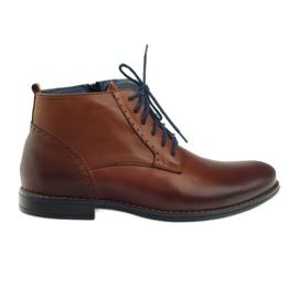 Vinterstøvler på lynlås bronze Nikopol 677 brun