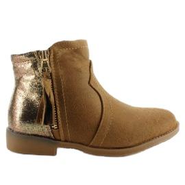 Brun Støvler junk støvler K1647301 Kamel