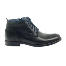 Vinterstøvler på lynlås sort Nikopol 677