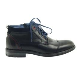 Læder ankelstøvler Nikopol 689 sort