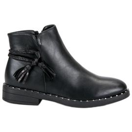 Filippo Flad støvler kvinder sort
