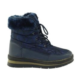 Sports sne støvler på pels DK navy