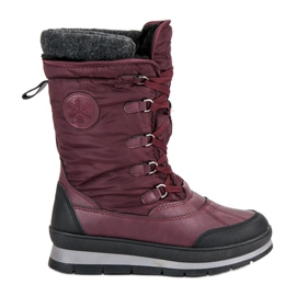 Mckeylor Moderne burgunder snestøvler rød