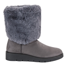Kylie grå Moderigtigt vinter fodtøj