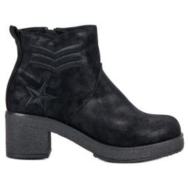 Kylie sort Militære kvinder støvler