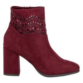 Kylie Elegante burgunderstøvler