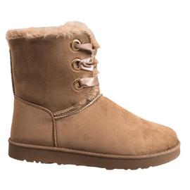 Kylie brun Bundet Snow Boots