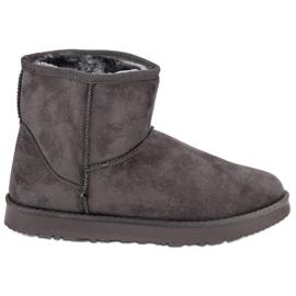 Kylie grå Glidende sne støvler