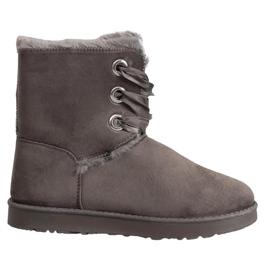 Kylie grå Bundet Snow Boots