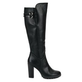 Cm Paris sort Klassiske høje hæle