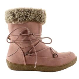 Pink Halv støvler til børn med pels K1647201 Rose