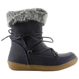 Navy Halv støvler til børn med pels K1647201 Marino