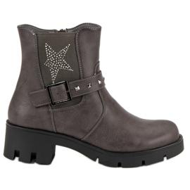 Groto Gogo grå Rock støvler på platformen