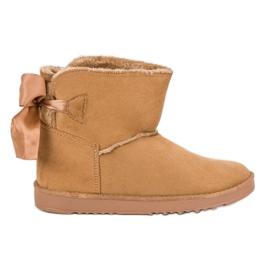 Brun Sne støvler med rullet op
