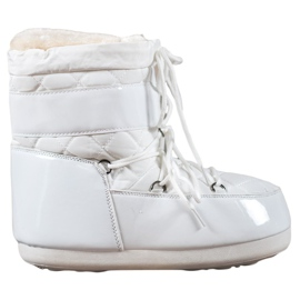 Hvid Moderigtige sne støvler