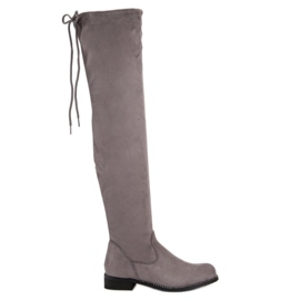 b782b269bf9 Kvinder støvler bag knæet. Suede lange støvler - SklepModernStock ...