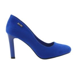 Sergio Leone Suede pumper 1457 blå