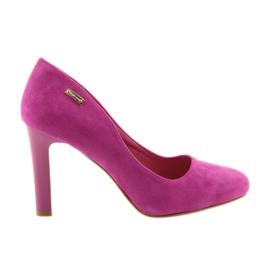 Sergio Leone pink Suede pumper 1457