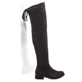 6d75a9557df Kvinder støvler bag knæet. Suede lange støvler - SklepModernStock ...