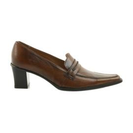 Læder sko Eksbut 864 brun